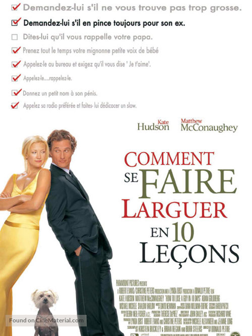 How to Lose a Guy in 10 Days - French Movie Poster