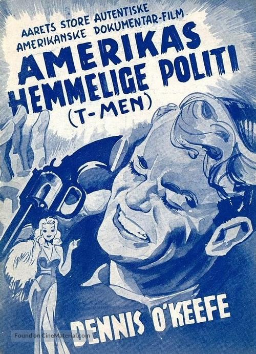 T-Men - Danish Movie Poster