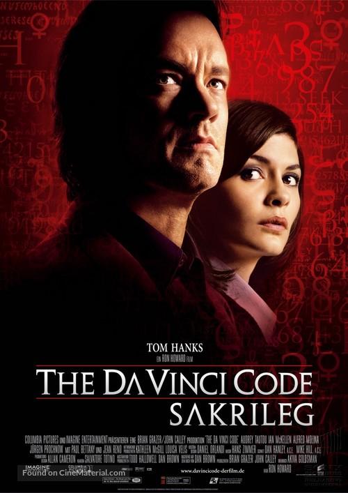 The Da Vinci Code - German Movie Poster