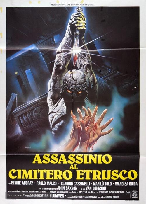 Assassinio al cimitero etrusco - Italian Movie Poster