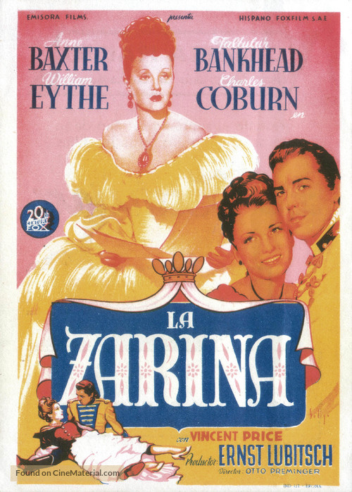 A Royal Scandal - Spanish Movie Poster