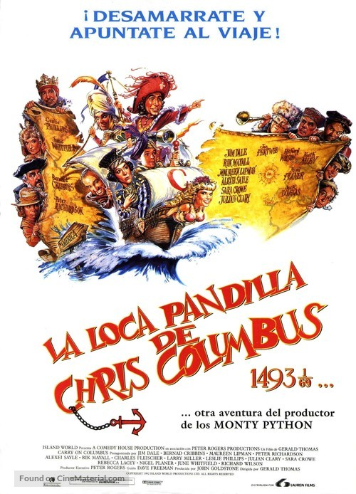 Carry on Columbus - Spanish Theatrical movie poster