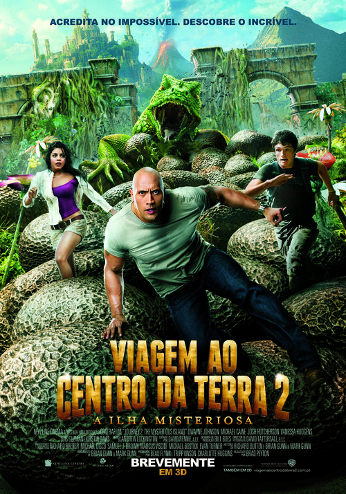 Journey 2: The Mysterious Island - Portuguese Movie Poster