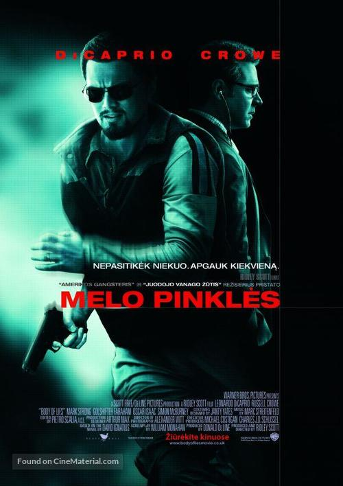Body of Lies - Lithuanian Movie Poster