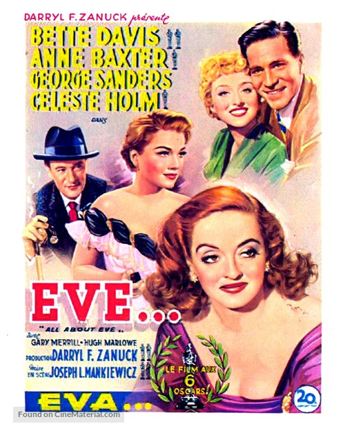 All About Eve - Belgian Movie Poster