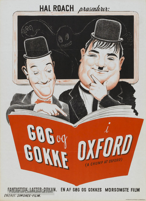 A Chump at Oxford - Danish Movie Poster