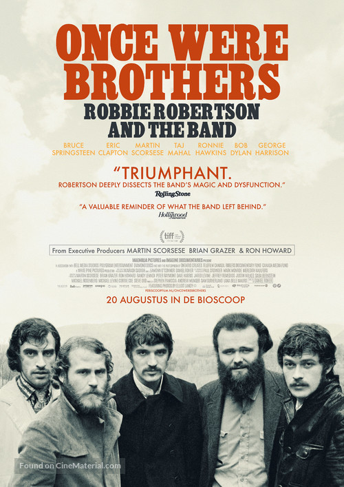 Once Were Brothers: Robbie Robertson and The Band - Dutch Movie Poster