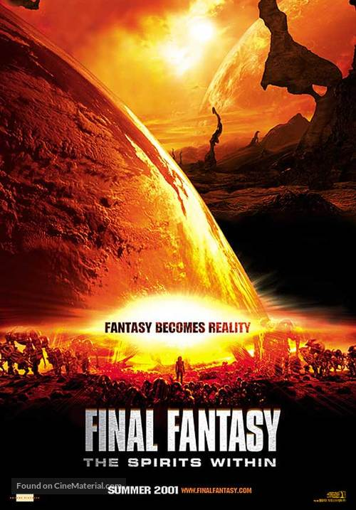 Final Fantasy The Spirits Within 2001 Movie Poster