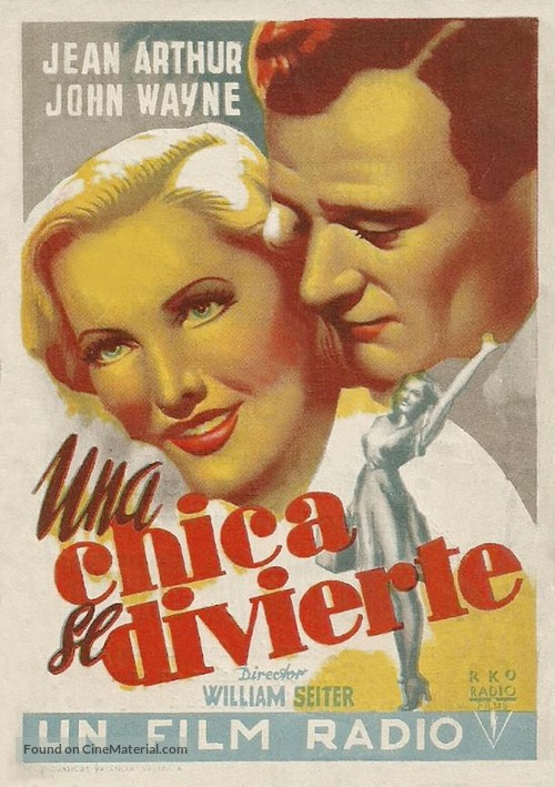 A Lady Takes a Chance - Spanish Movie Poster