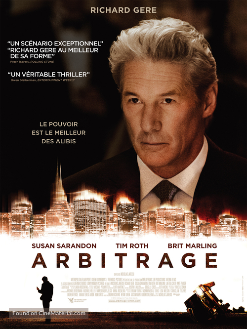 Arbitrage - French Movie Poster