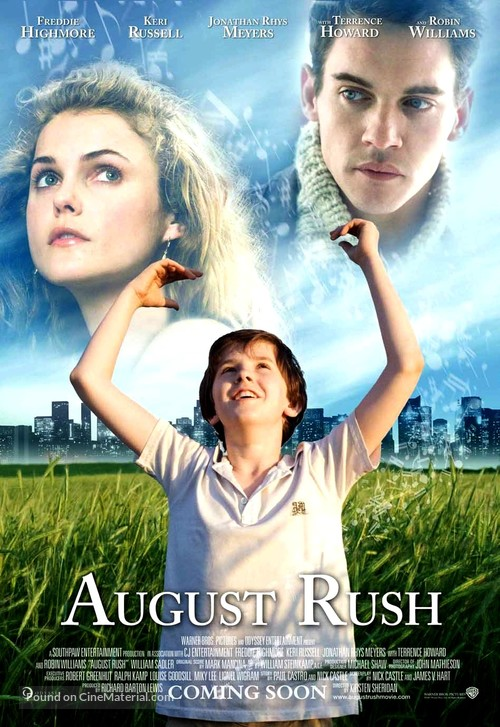 august rush movie review I was told that i would appreciate this, because i'm a music fan, but it would take a  lot more than that to enjoy a film like august rush unless you're a child, the.