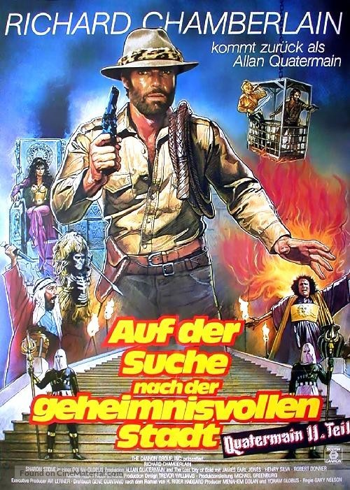 Allan Quatermain and the Lost City of Gold - German Movie Poster