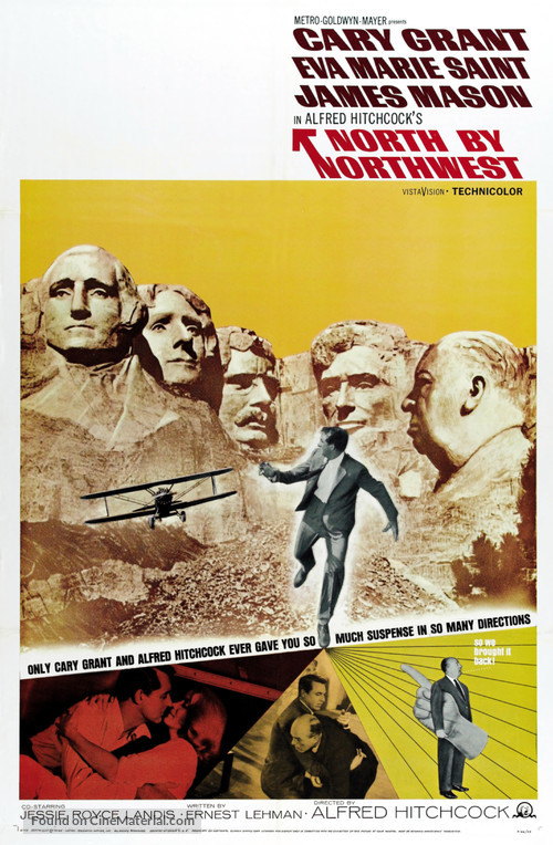 North by Northwest - Re-release poster