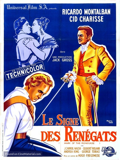 The Mark of the Renegade - French Movie Poster