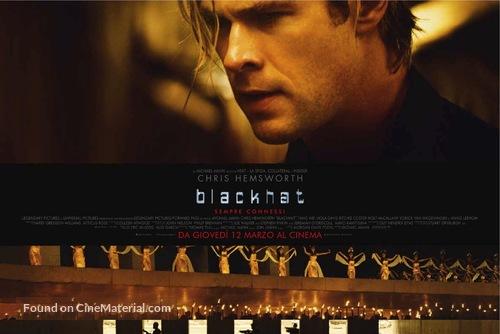 Blackhat - Italian Movie Poster
