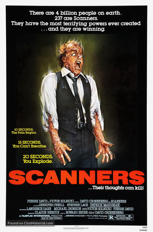 Scanners - Movie Poster