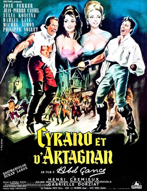 Cyrano et d'Artagnan - French Movie Poster