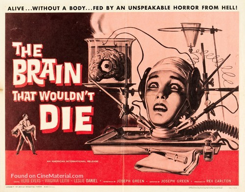 The Brain That Wouldn't Die - Movie Poster