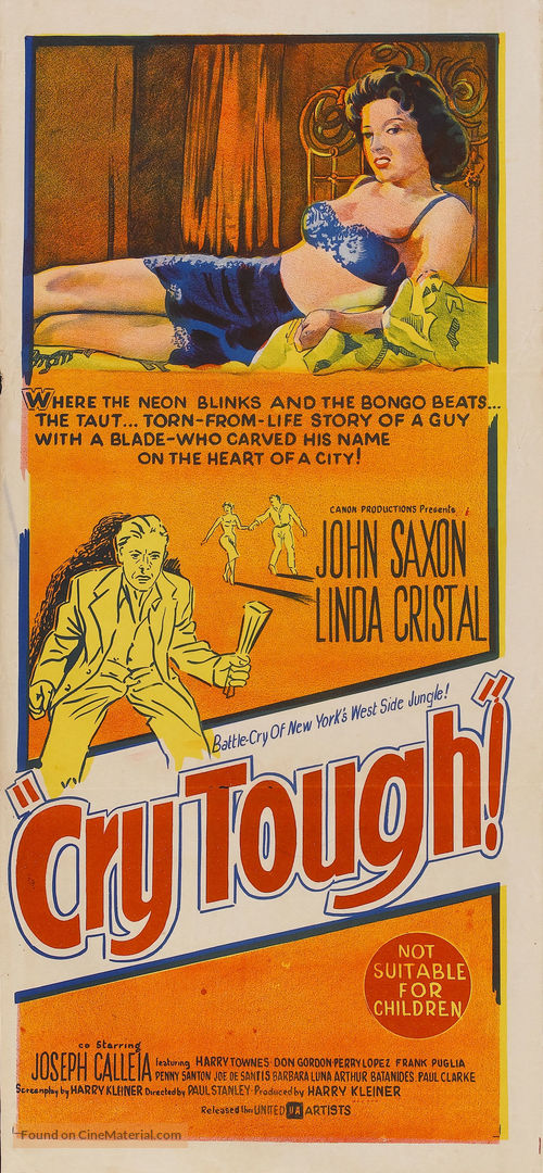 Cry Tough - Australian Movie Poster