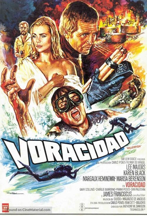 Killer Fish - Spanish Movie Poster