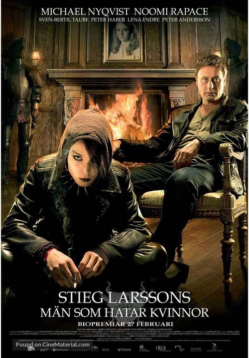 Män som hatar kvinnor - Swedish Movie Poster