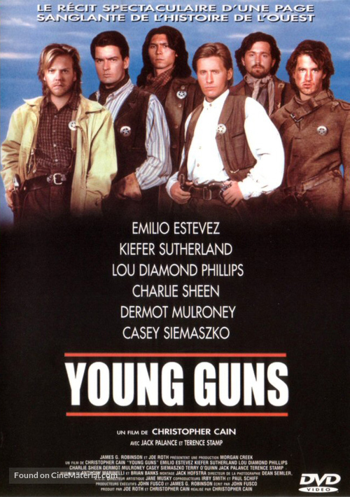 Young Guns - French DVD movie cover