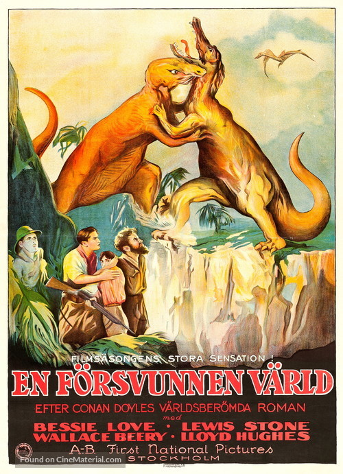 The Lost World - Swedish Movie Poster