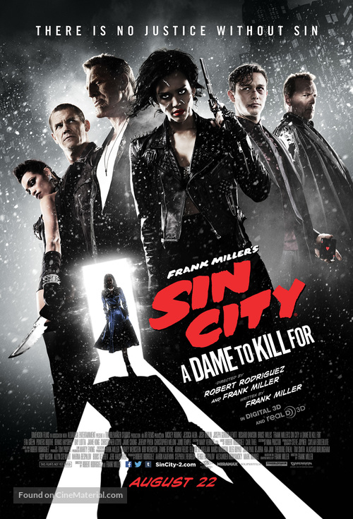 Sin City: A Dame to Kill For - Theatrical movie poster