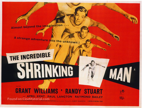 The Incredible Shrinking Man - British Movie Poster