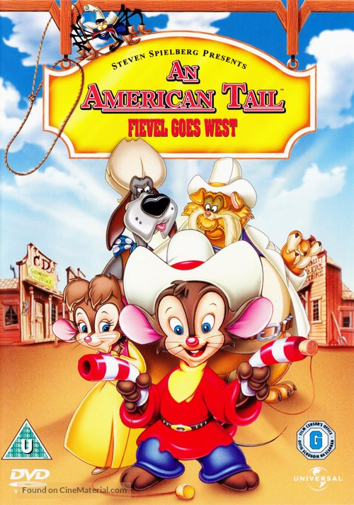 An American Tail: Fievel Goes West - British Movie Cover