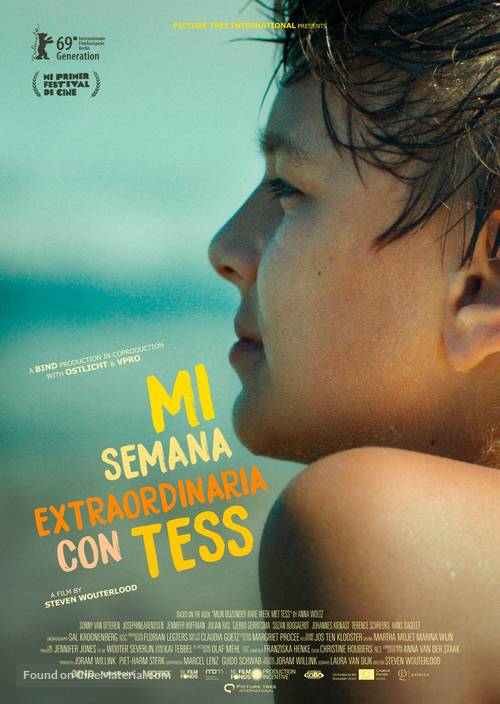 My Extraordinary Summer with Tess - Spanish Movie Poster