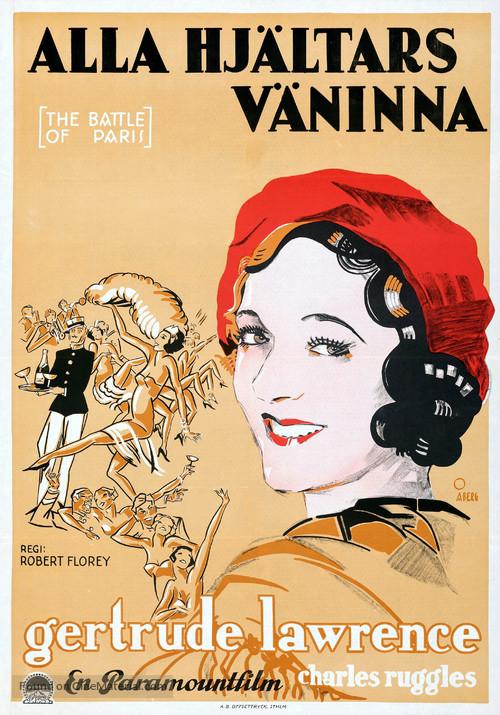 The Battle of Paris - Swedish Movie Poster