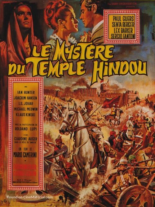 Il mistero del tempio indiano - French Movie Poster
