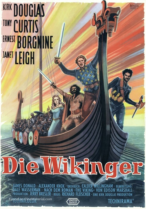 The Vikings - German Movie Poster