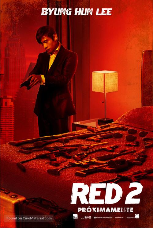RED 2 - Spanish Movie Poster