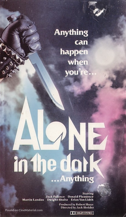 Alone in the Dark - VHS movie cover