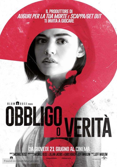 Truth or Dare Italian movie poster