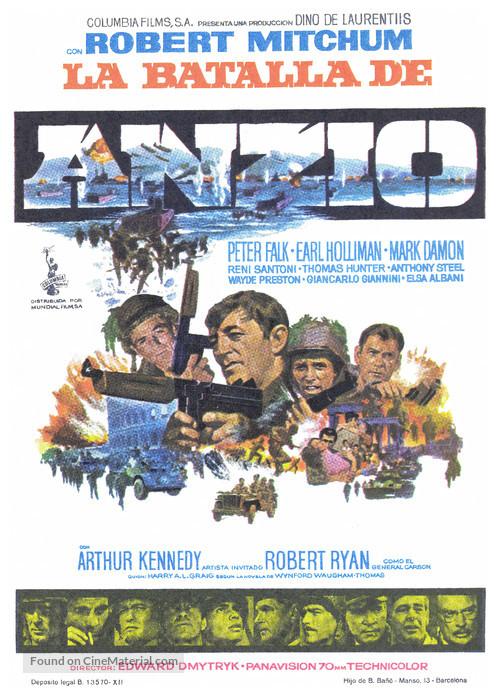 Lo Sbarco di Anzio - Spanish Movie Poster