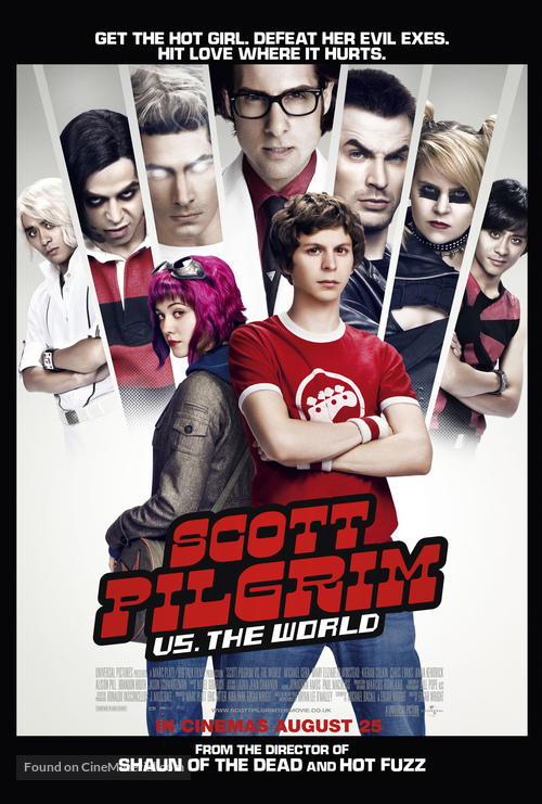 Scott Pilgrim vs. the World - British Movie Poster