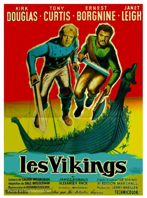 The Vikings - French Movie Poster