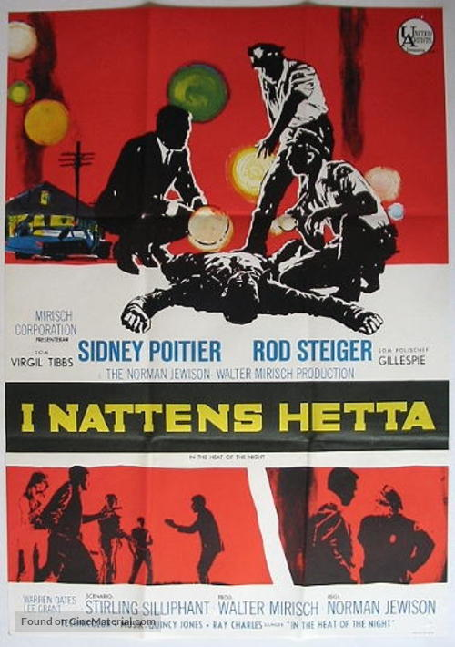 In the Heat of the Night - Swedish Movie Poster