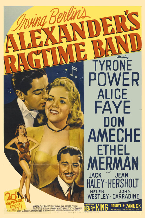 Alexander's Ragtime Band - Movie Poster