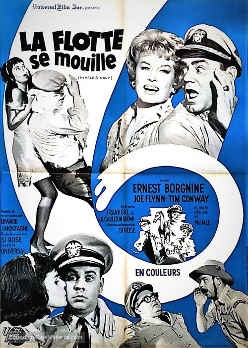 McHale's Navy - French Movie Poster
