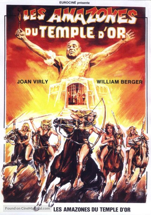 Les amazones du temple d'or - French Movie Poster