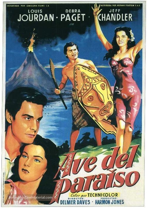Bird of Paradise - Spanish Movie Poster