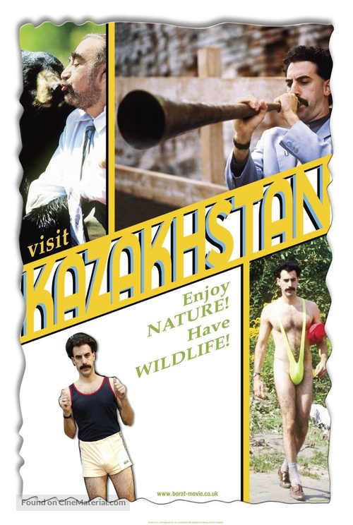 Borat Cultural Learnings Of America For Make Benefit Glorious Nation Of Kazakhstan 2006 Movie Poster
