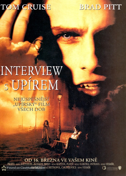Interview With The Vampire - Czech Movie Poster