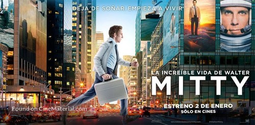 The Secret Life of Walter Mitty - Argentinian Movie Poster