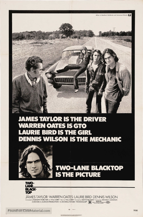 Two-Lane Blacktop - Movie Poster