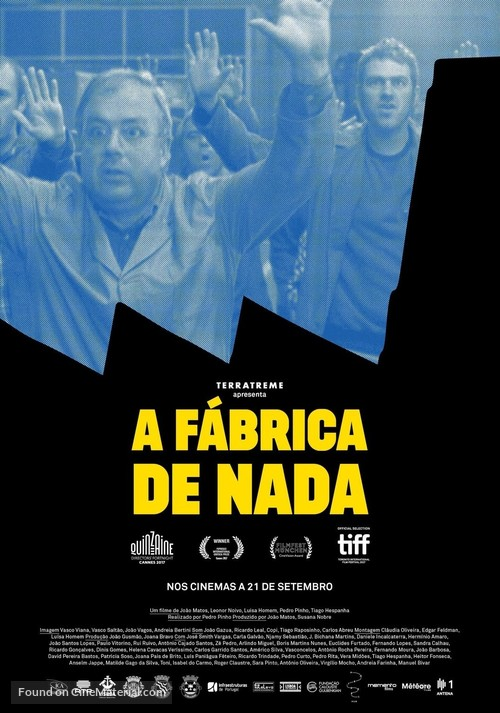A Fábrica de Nada - Portuguese Movie Poster